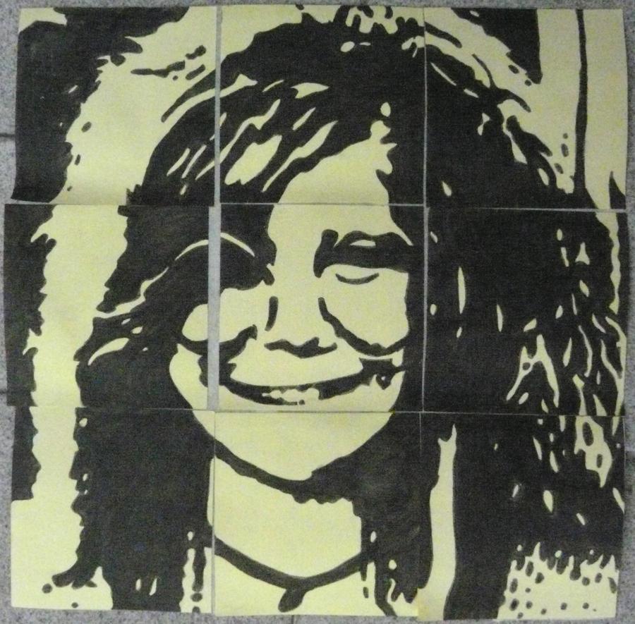 Janis Joplin (on post-its) by Neon55555
