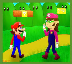 Mario meets LuiVi (AT Miix4befre12) by MARIO-CAP