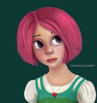 Pink-haired Girl by merrycarousel