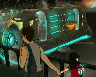 Futurism: evacuation by merrycarousel