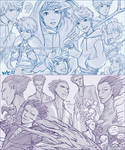 Rise of the Guardians: Jack and Pitch sketches