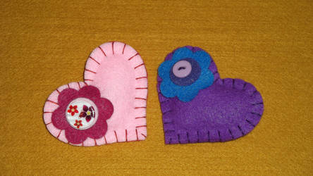 Felt Heart Badges
