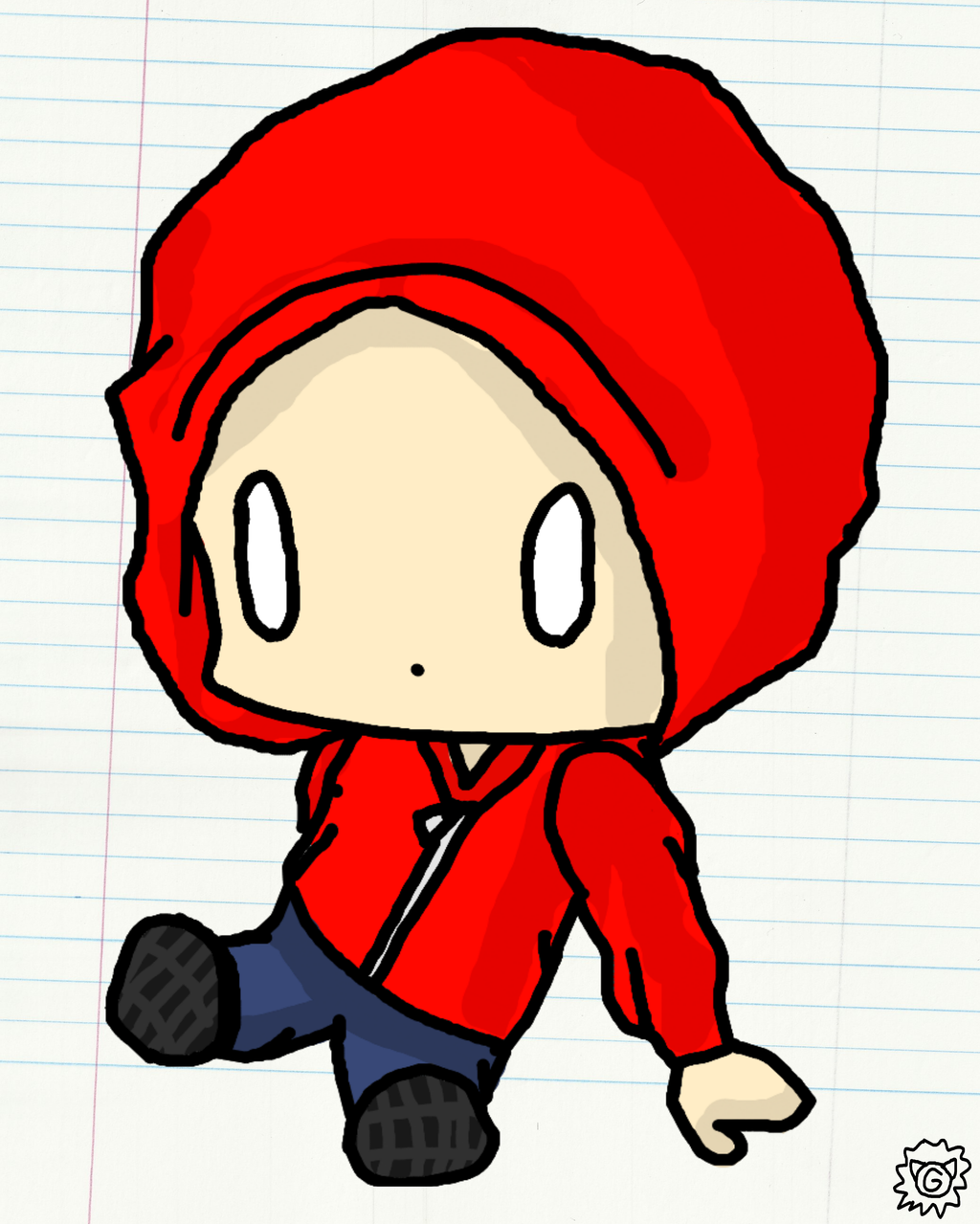 how to draw someone wearing a hoodie from the back