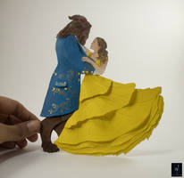 Papercut Sculpture BEAUTY AND THE BEAST 2017 COVER by NVillustration