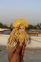 Celebrity Paper cut Portraits ~ Beyonce by NVillustration
