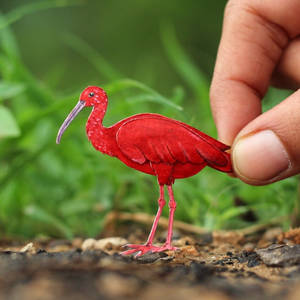 Scarlet Ibis - Paper cut birds