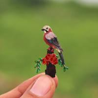 Eurasian Jay - Paper cut birds by NVillustration