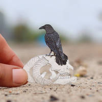 American Crow - Paper cut birds by NVillustration