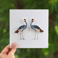 Grey Crowned Crane ( Commissioned  Artwork ) by NVillustration