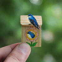 Tree Swallow - Paper cut birds by NVillustration