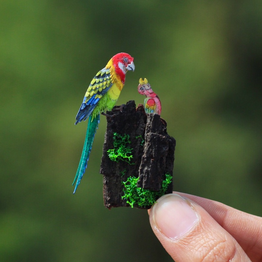 Eastern Rosella - Paper cut birds by NVillustration