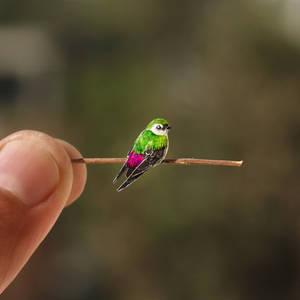 Violet-green Swallow - Paper cut birds