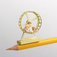 Golden Hamster - Paper cut art by NVillustration