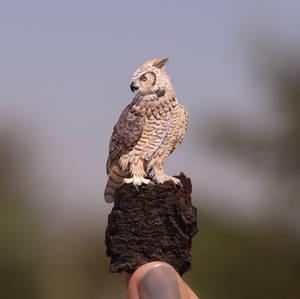 Great Horned Owl - Paper cut birds
