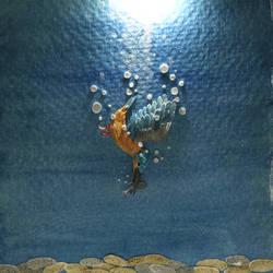 Common Kingfisher - Paper cut birds
