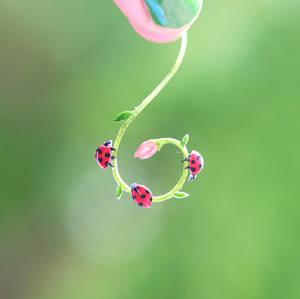 Ladybugs  - Paper cut art