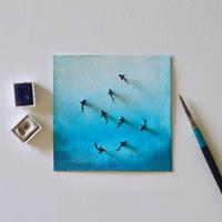World Ocean Day - Paper Cut Artwork