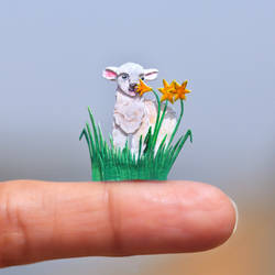 Baby Sheep - Paper cut art by NVillustration