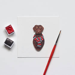 Labrador Retriever - Paper cut art