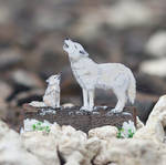 Arctic Wolfs  - Paper cut art
