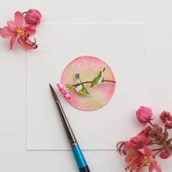 Japanese White Eye - Paper Cut Birds by NVillustration