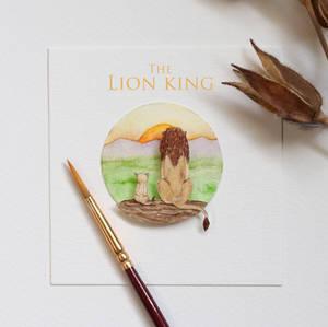 Mufasa and Simba  - Paper cut art
