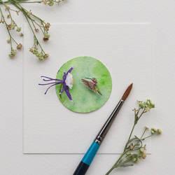 Calliope Hummingbird - Paper cut bird