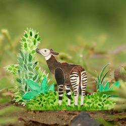 Okapi  - Paper cut art