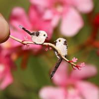 Long tailed Tit - Paper Cut Birds