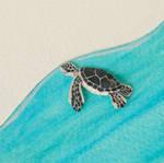 Baby Green Sea Turtle - Paper cut art