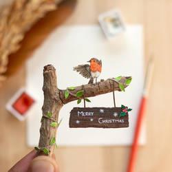 The European Robin - Paper Cut Birds