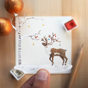 Bubu The Reindeer  - Paper Cut Animals