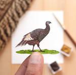 The Wild Turkey - Paper Cut art