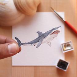 The Great White Shark - Paper Cut art