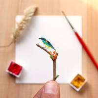 The yellow-tufted dacnis - Paper Cut art