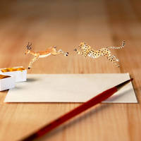 The Hunt 'Cheetah and Gazelle'  - Paper Cut art