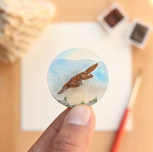 The Platypus - Paper Cut art