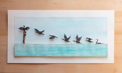 The Black Pinion - Paper Cut art