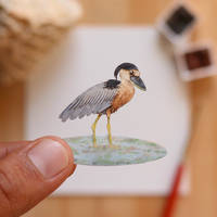 The Boat-billed Heron - Paper Cut art