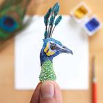 The Green Peafowl portrait