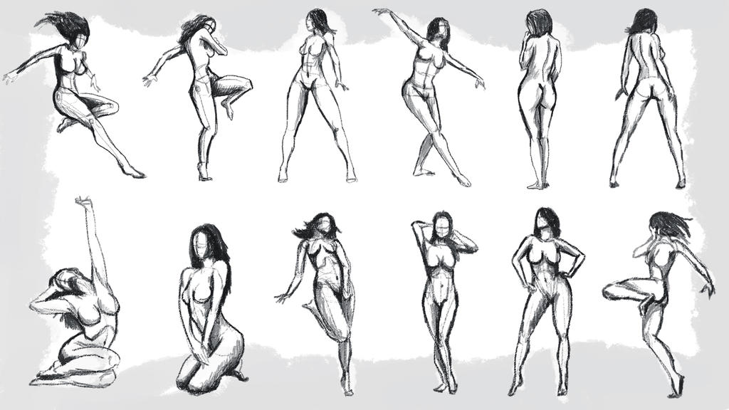 Female Figure Poses #1 by MintyFreshThoughts