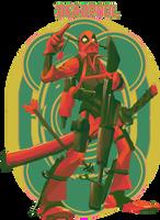 Deadpool by kirk-mccosker