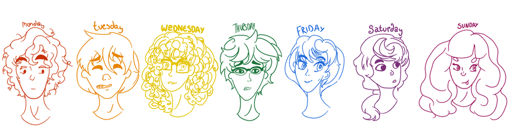 Days Of The Week by kadudet