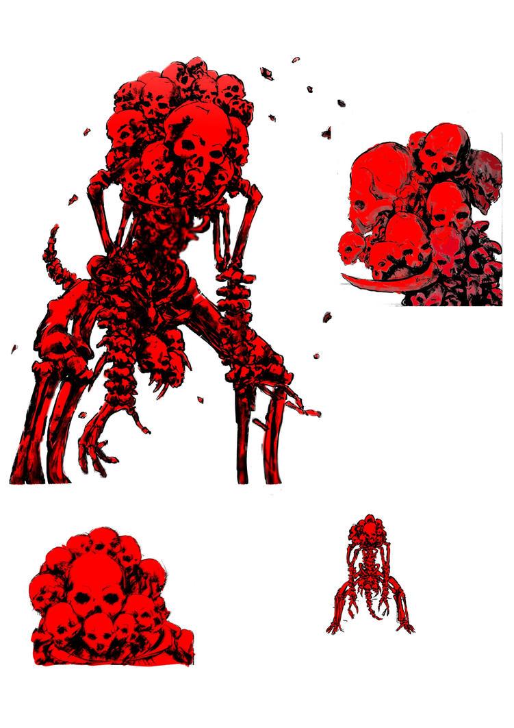 Bloody skull amp by Heizemberg