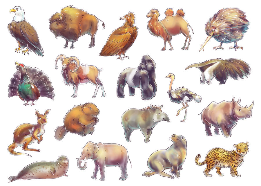 Endangered Species of the Wold Game (Animals) by Fany001 on DeviantArt