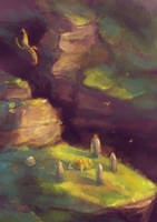 The Valley of Ancestors Speedpainting by Fany001