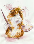 The Cavy Which Can Paint by Fany001