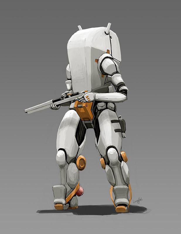 Hard Shell Eva Space Suit by longgi on DeviantArt
