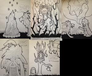 [Astral Story Inktober] #13/#14 /#15/ #16/ #17