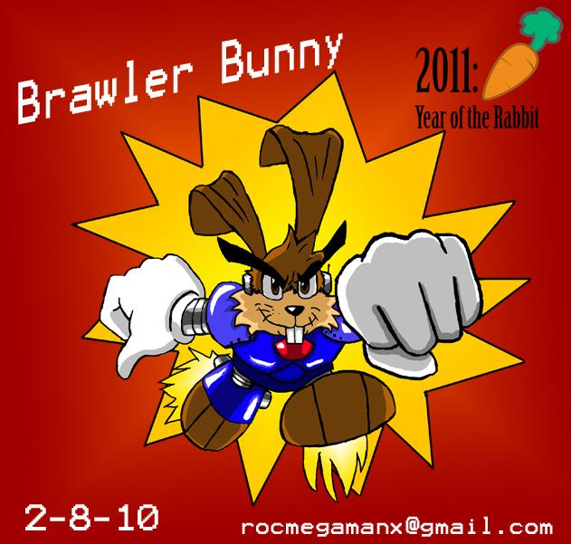 Brawler Bunny 2011 Art Jam by RocMegamanX